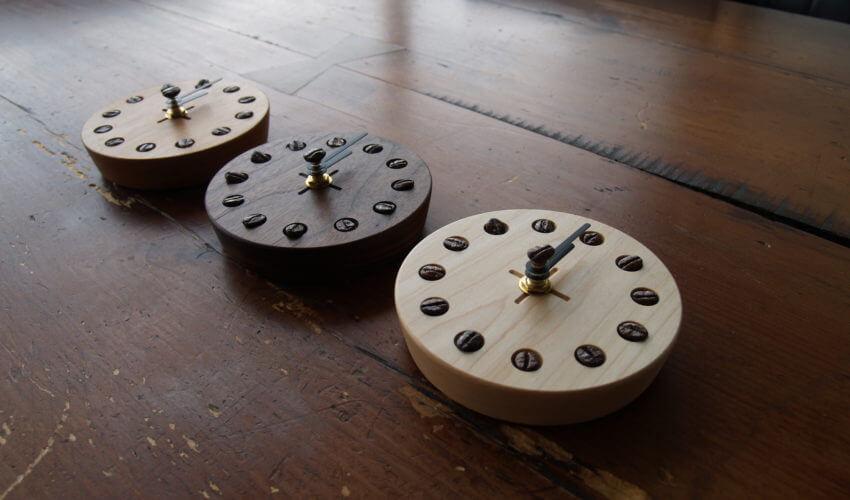 コーヒー豆の時計