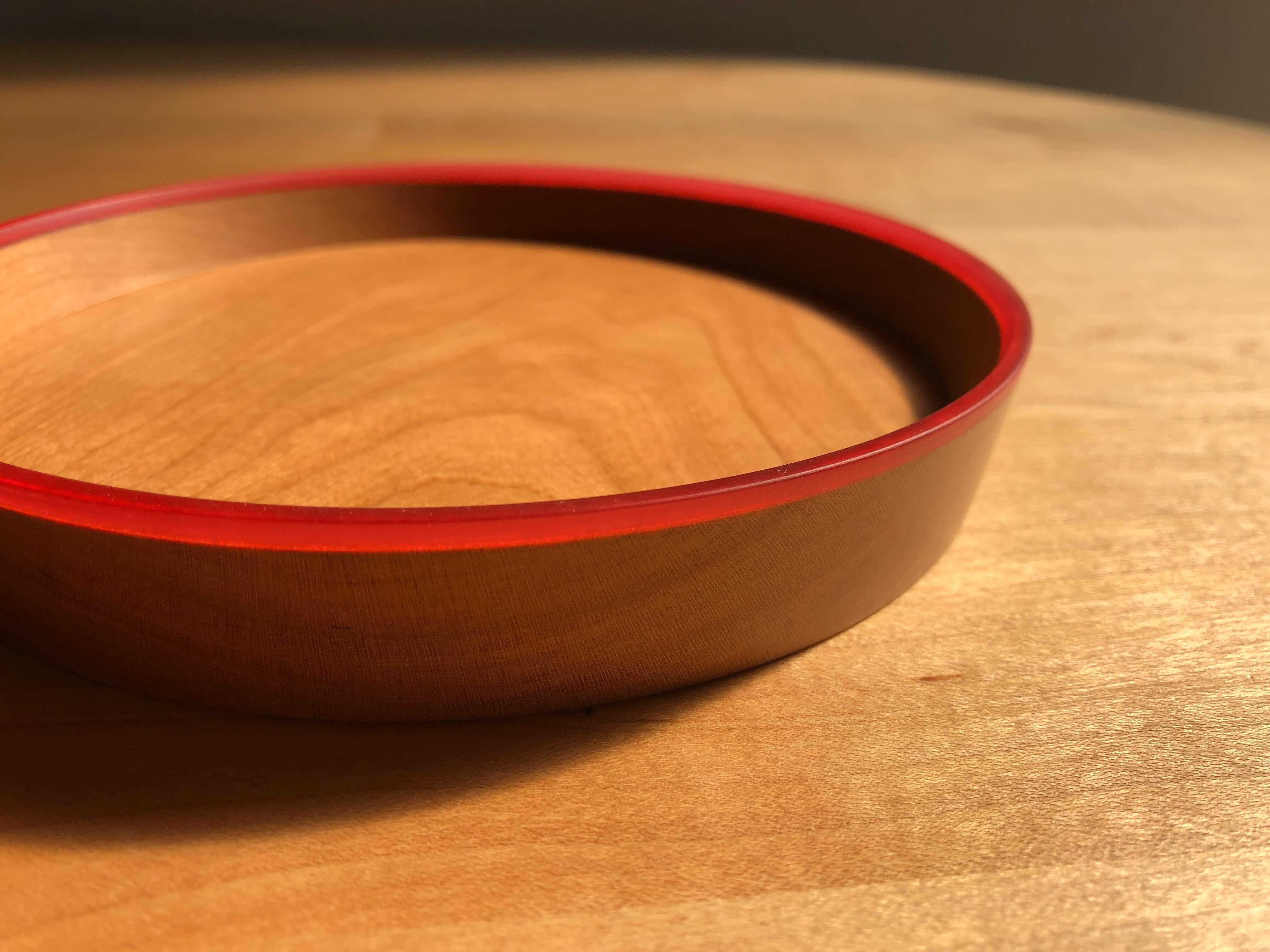 木とレジンのお皿 co_ren