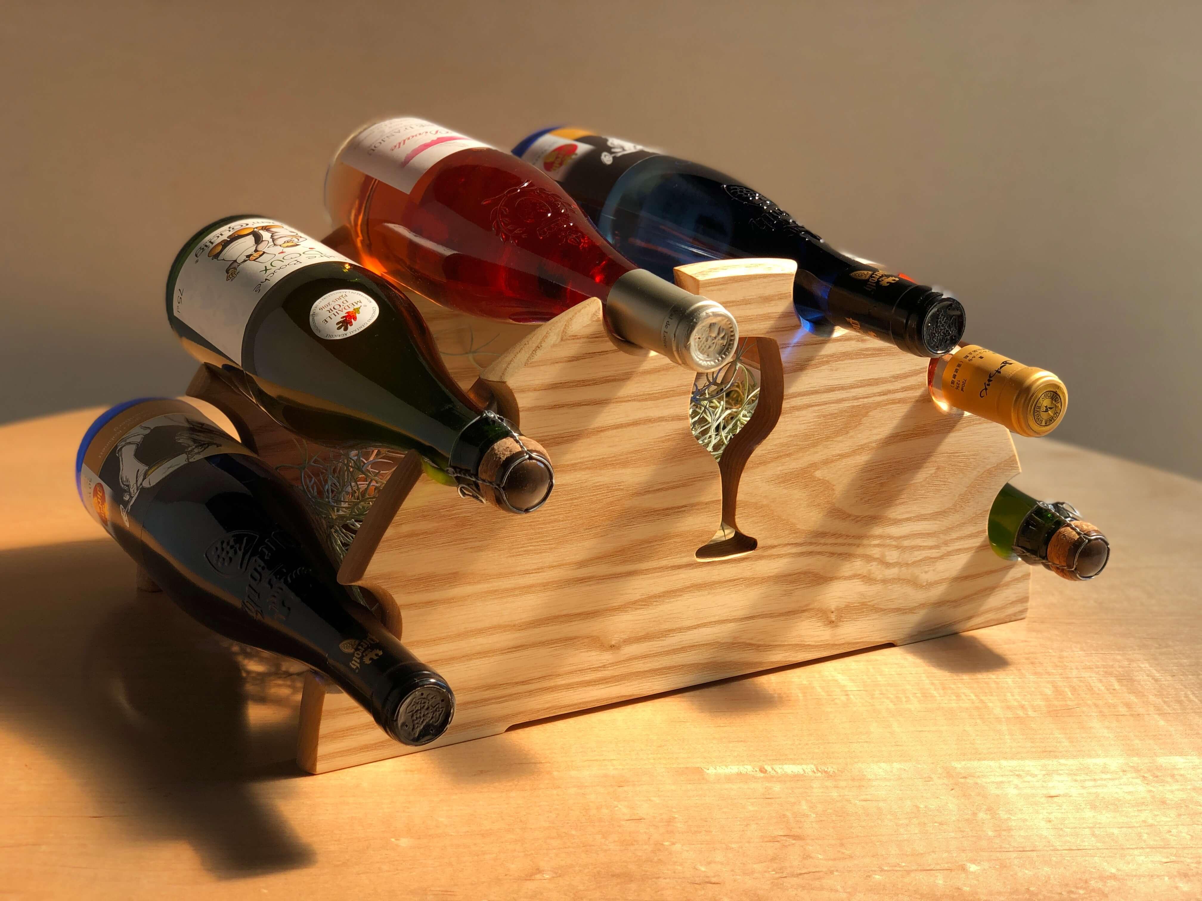 木製ワインラック