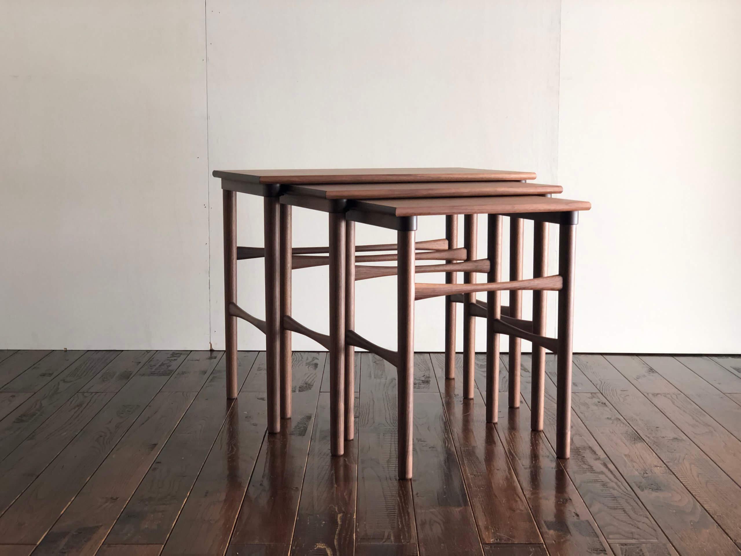 ウォールナット,ネストテーブル
