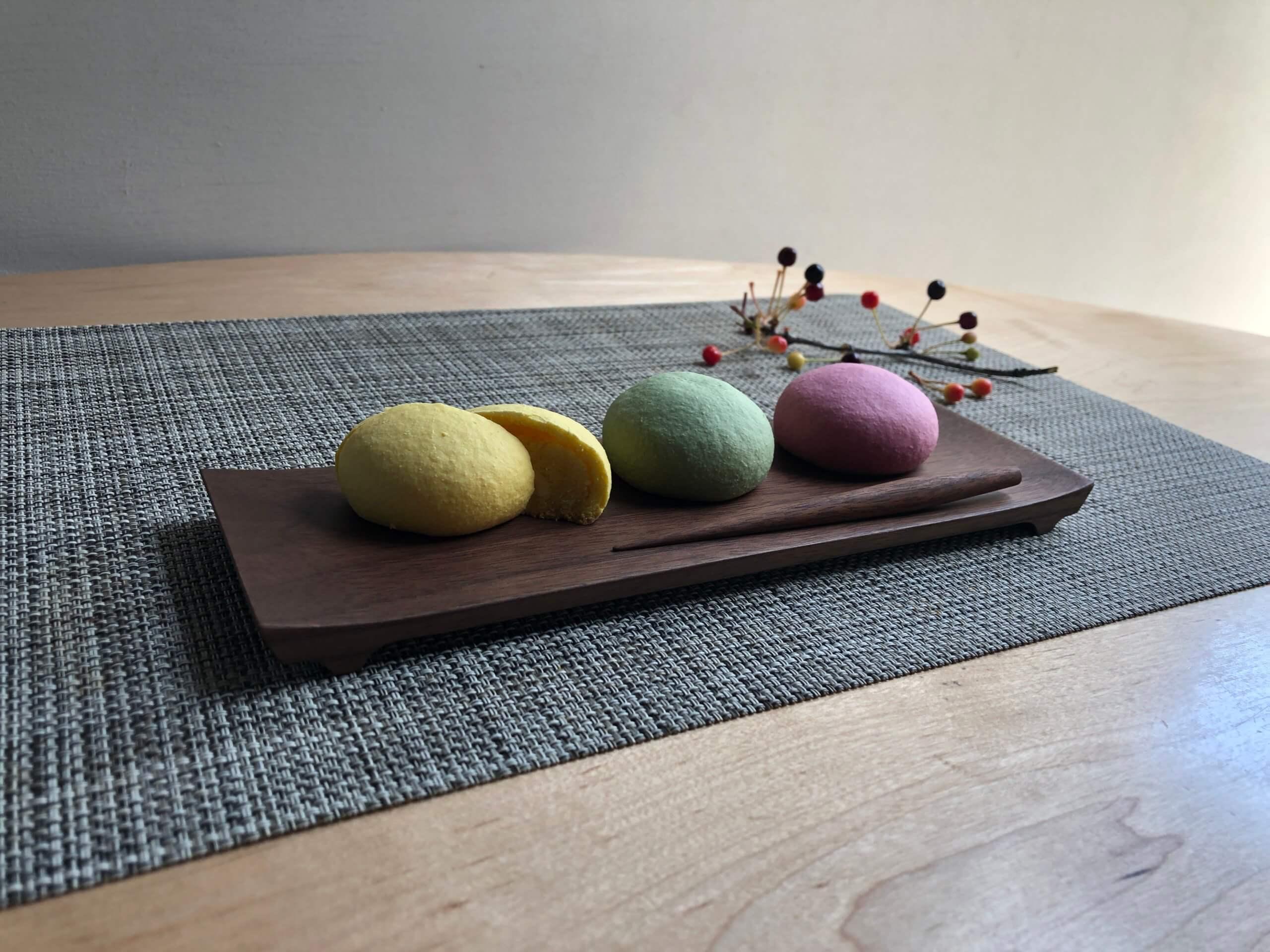 木の菓子皿